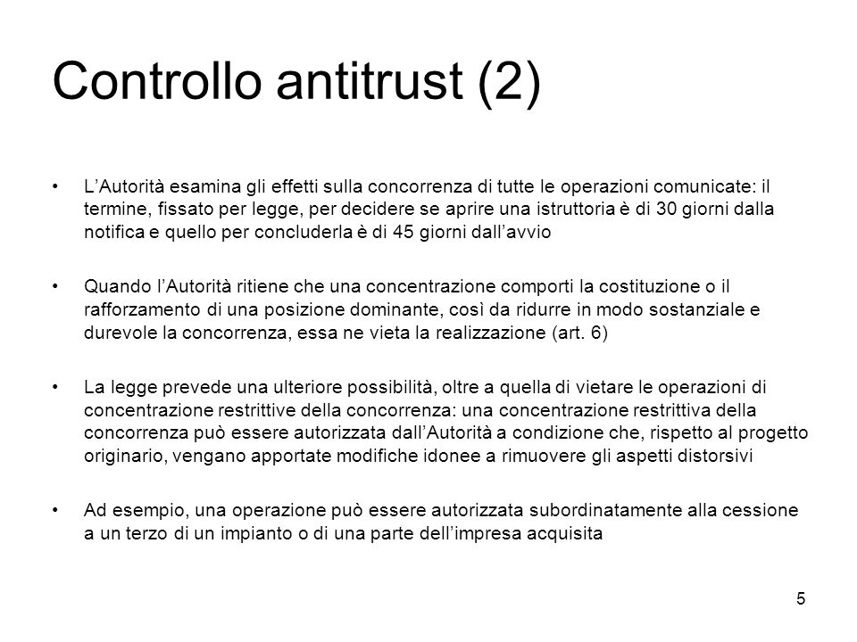 Controllo antitrust (2)