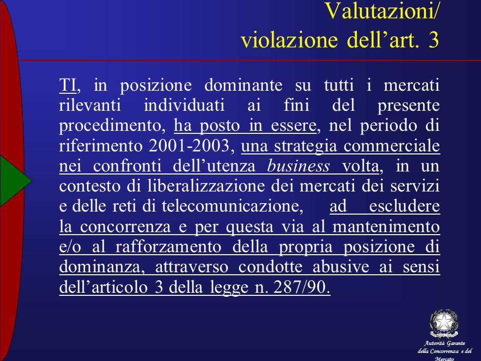 Valutazioni/ violazione dell'art. 3