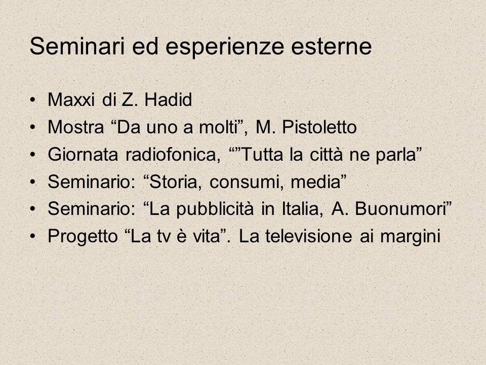 Seminari ed esperienze esterne