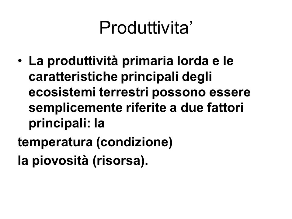 Produttivita'