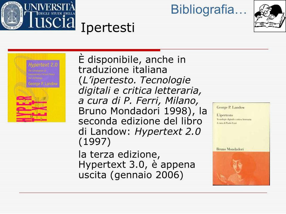 Bibliografia… Ipertesti