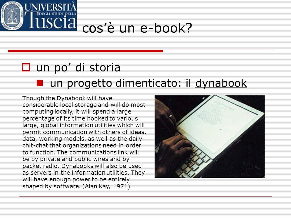 cos'è un e-book un po' di storia un progetto dimenticato: il dynabook