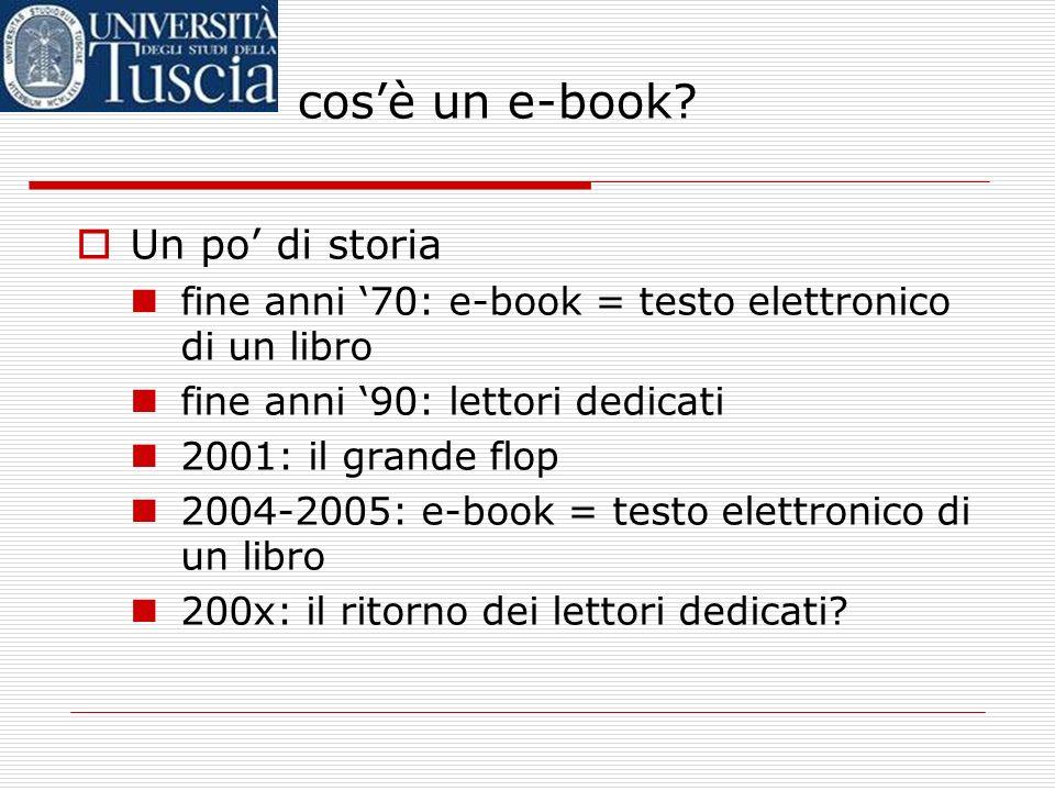 cos'è un e-book Un po' di storia
