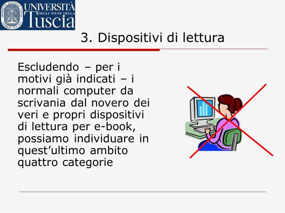 3. Dispositivi di lettura