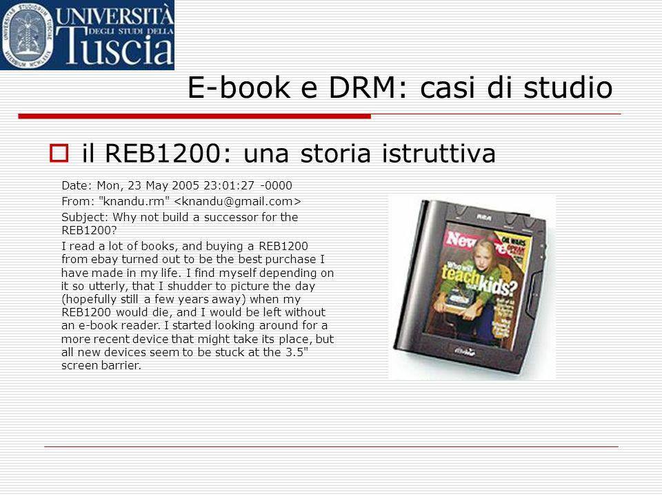 E-book e DRM: casi di studio
