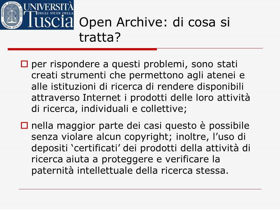 Open Archive: di cosa si tratta