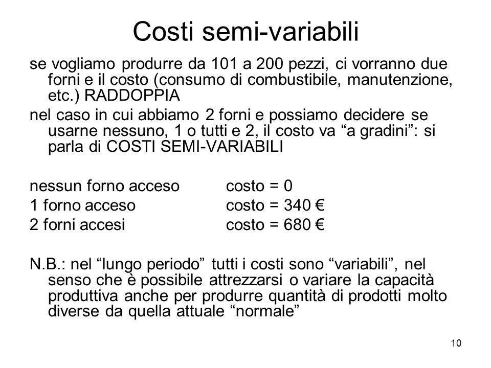 Costi semi-variabili