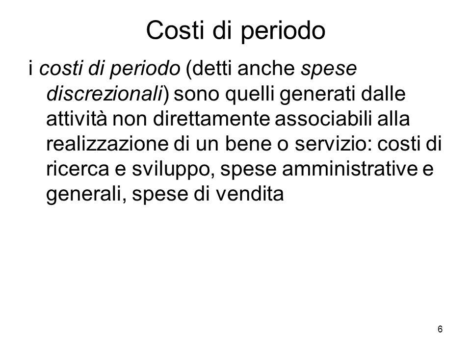 Costi di periodo