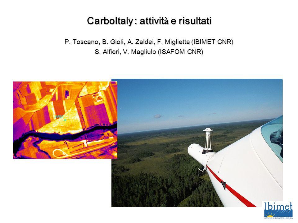 CarboItaly : attività e risultati