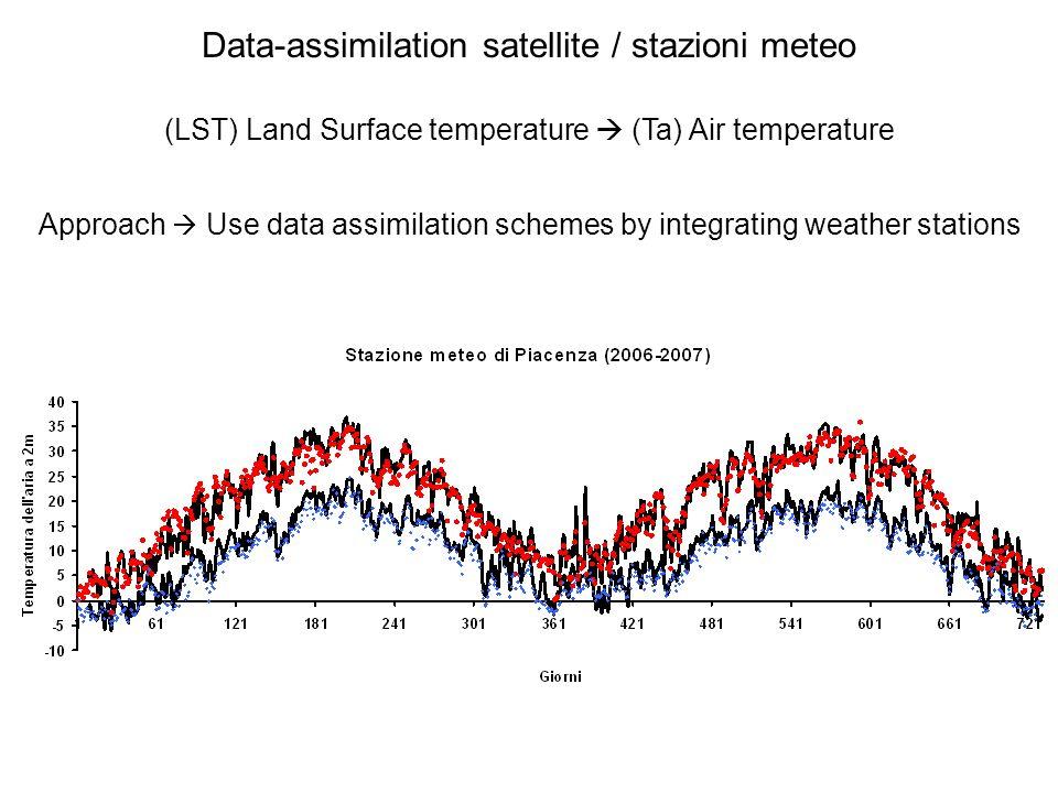 Data-assimilation satellite / stazioni meteo