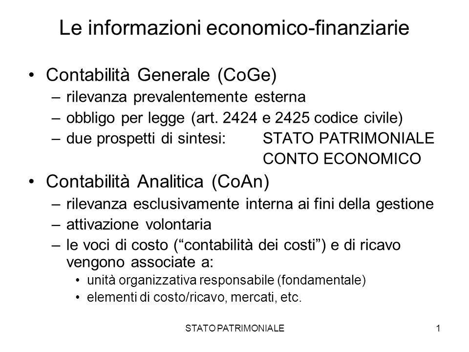 Le informazioni economico-finanziarie