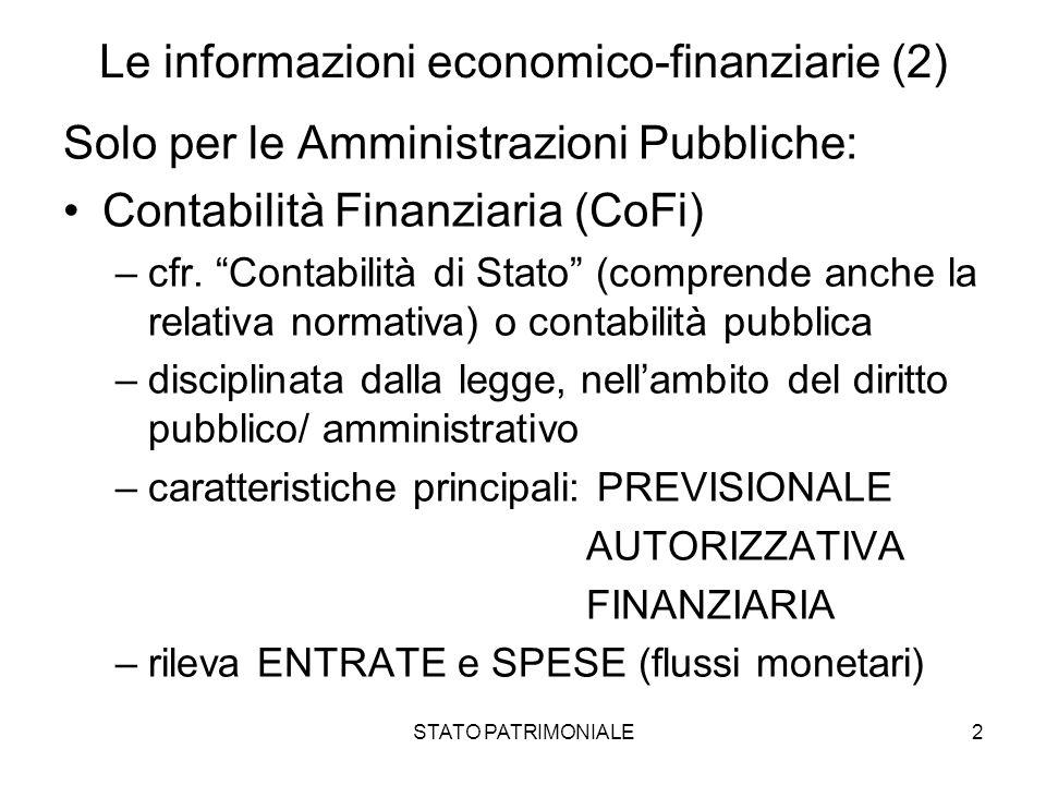 Le informazioni economico-finanziarie (2)