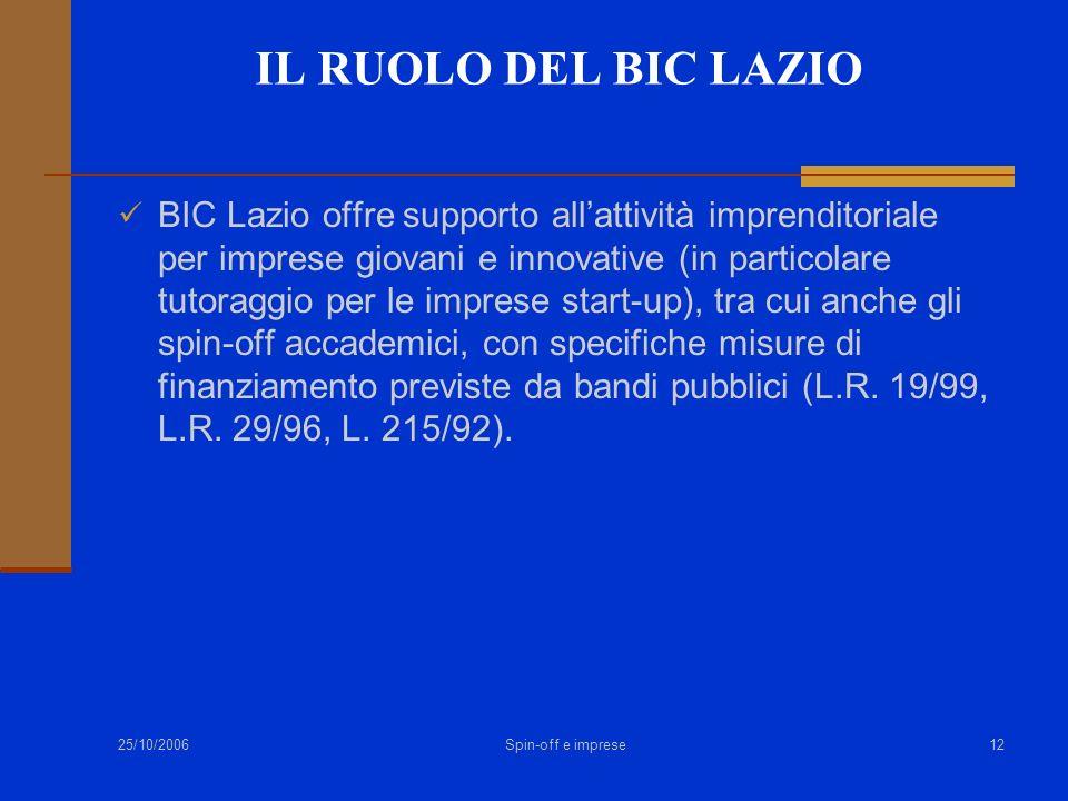 Alessandro Ruggieri IL RUOLO DEL BIC LAZIO.
