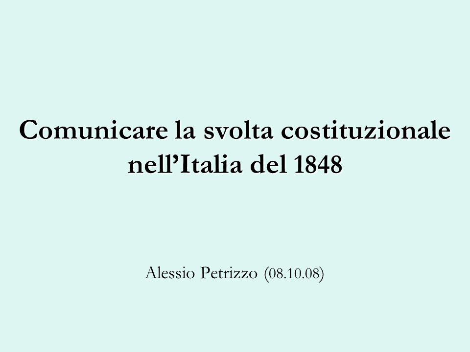 Comunicare la svolta costituzionale nell'Italia del 1848
