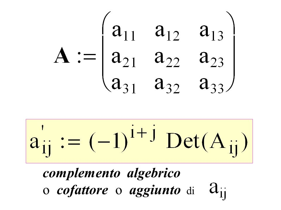 complemento algebrico