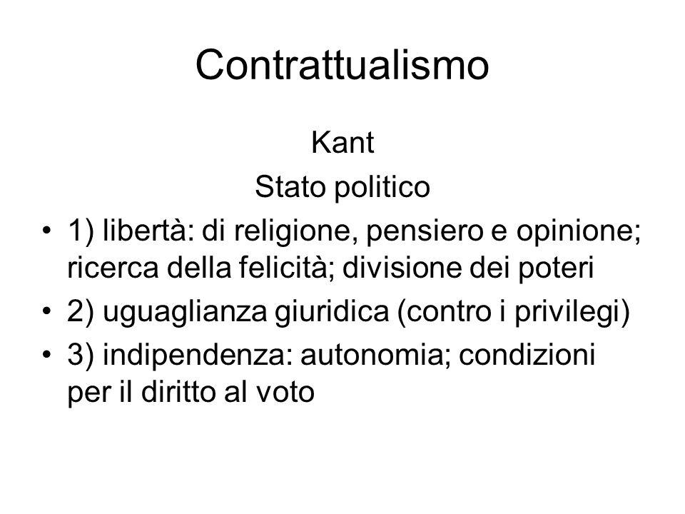 Contrattualismo Kant Stato politico