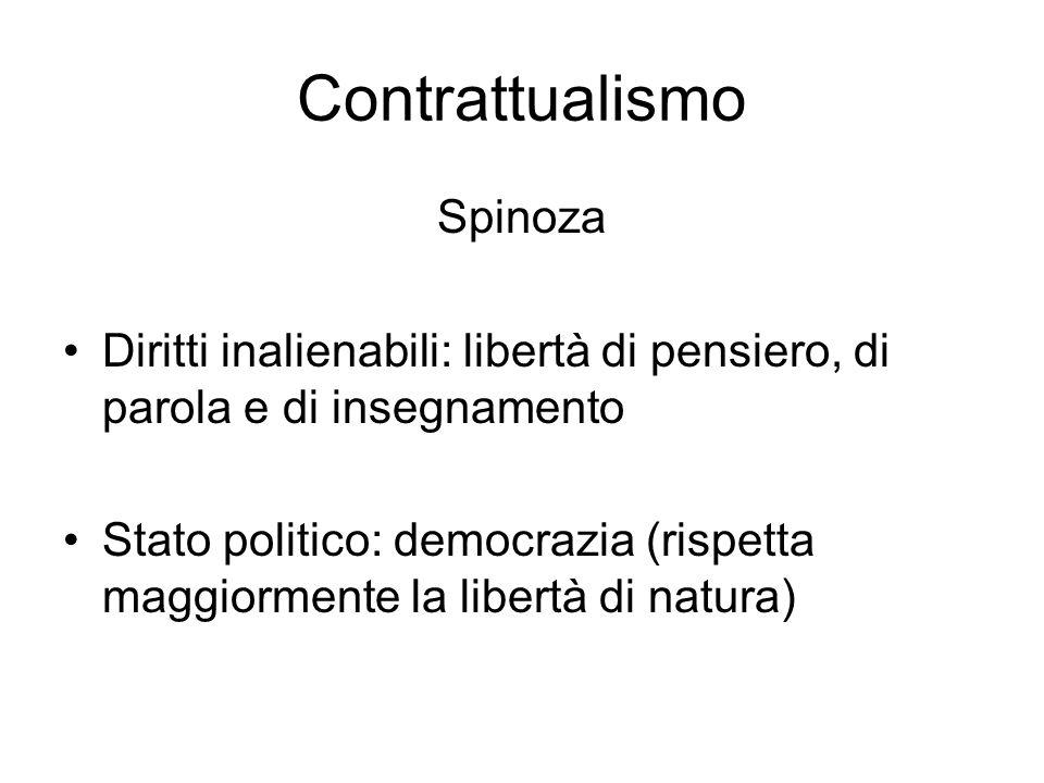 Contrattualismo Spinoza