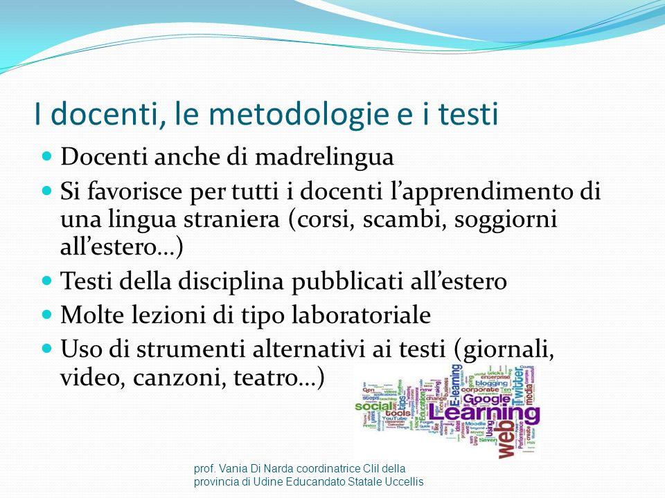 I docenti, le metodologie e i testi