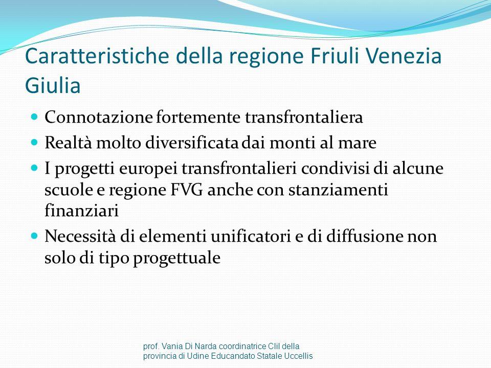 Caratteristiche della regione Friuli Venezia Giulia