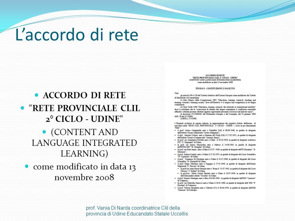 RETE PROVINCIALE CLIL 2° CICLO - UDINE