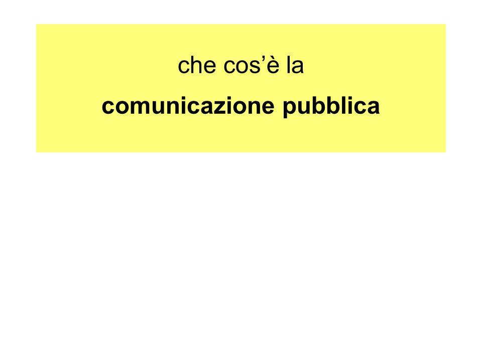 che cos'è la comunicazione pubblica