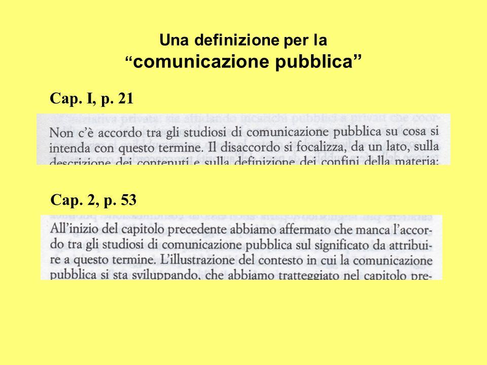 Una definizione per la comunicazione pubblica