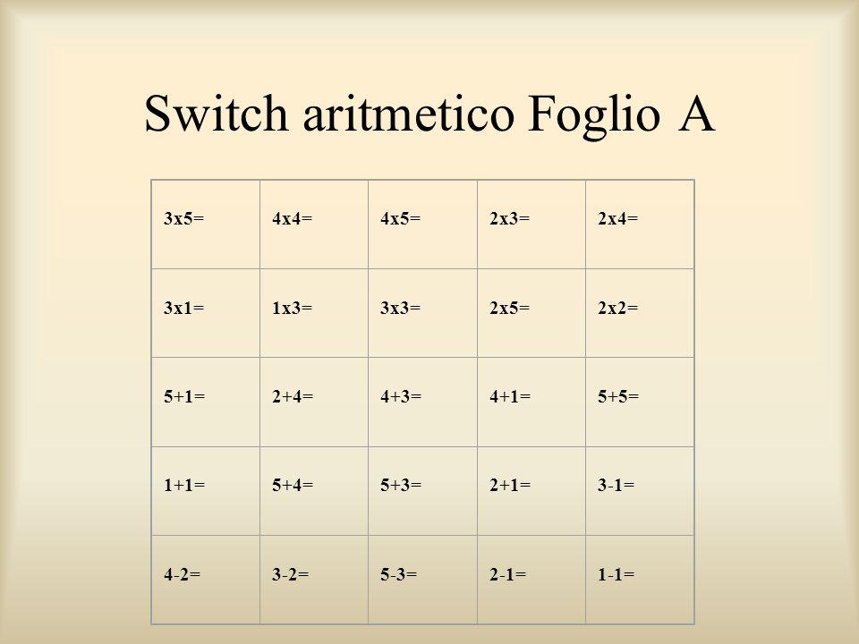 Switch aritmetico Foglio A