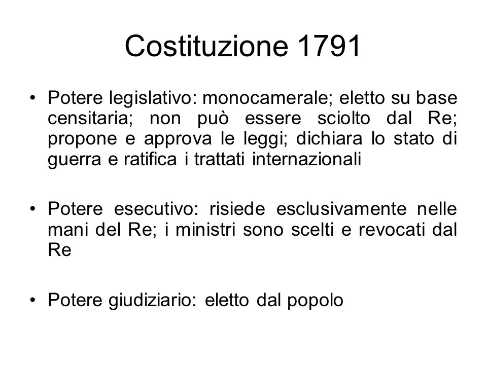 Costituzione 1791