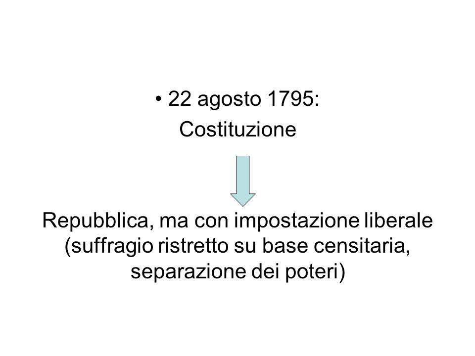 22 agosto 1795: Costituzione.
