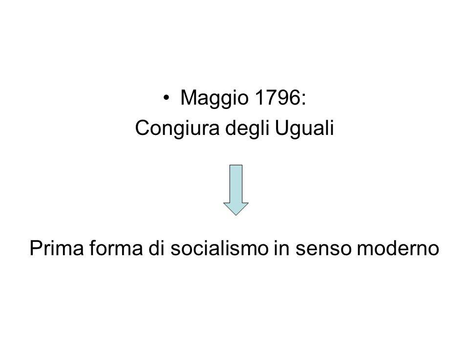 Prima forma di socialismo in senso moderno