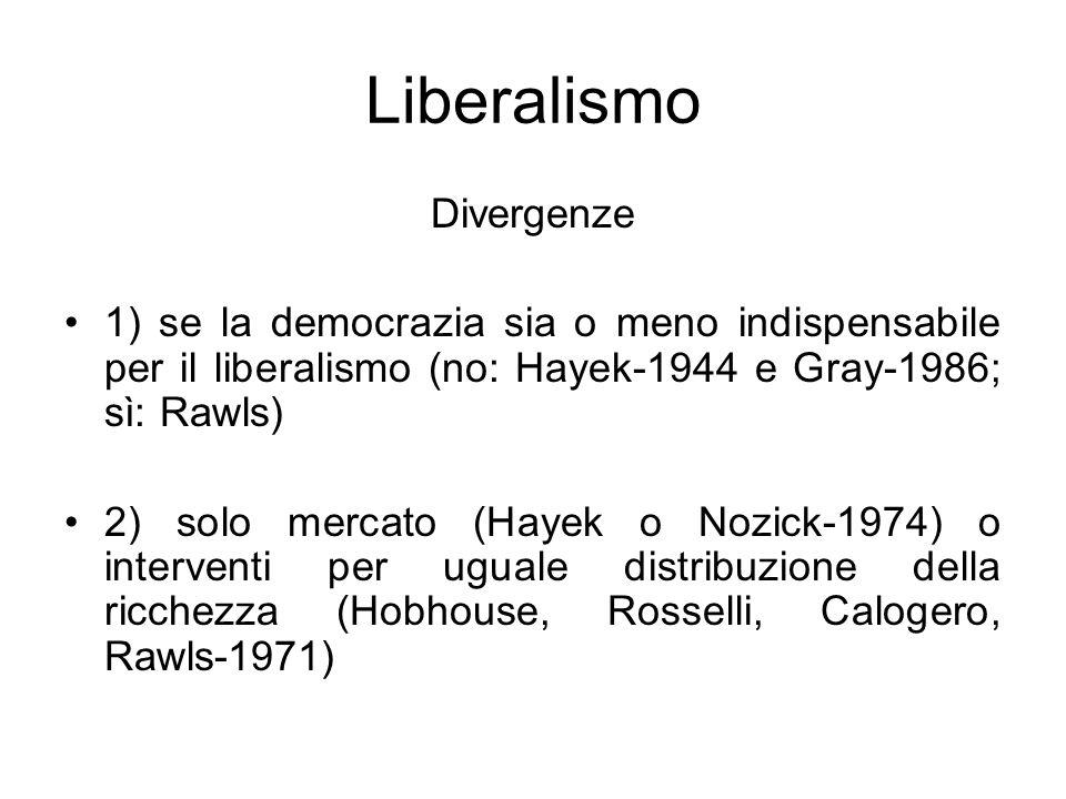 Liberalismo Divergenze