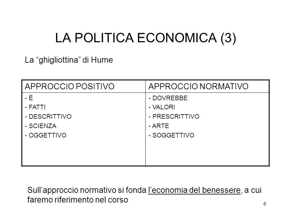 LA POLITICA ECONOMICA (3)