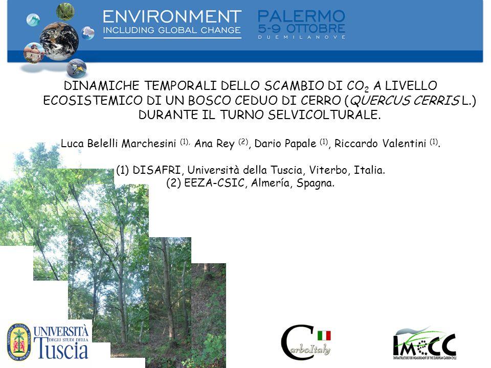 DINAMICHE TEMPORALI DELLO SCAMBIO DI CO2 A LIVELLO ECOSISTEMICO DI UN BOSCO CEDUO DI CERRO (QUERCUS CERRIS L.) DURANTE IL TURNO SELVICOLTURALE.