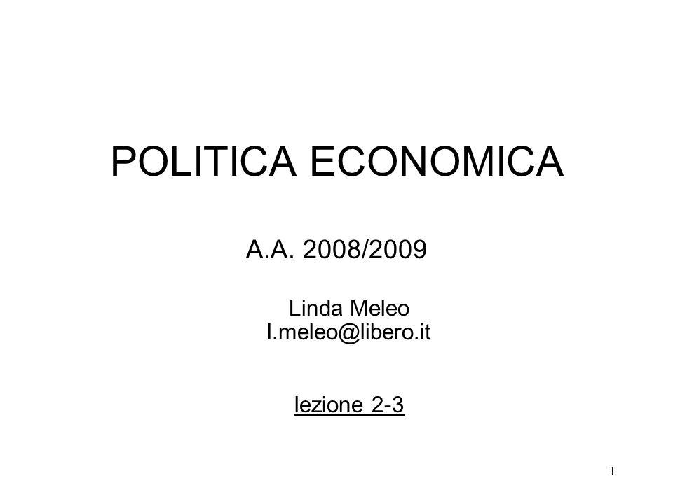 A.A. 2008/2009 Linda Meleo l.meleo@libero.it lezione 2-3