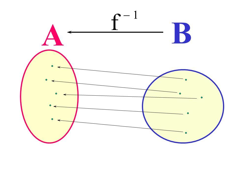 Funzione inversa f - 1 B A