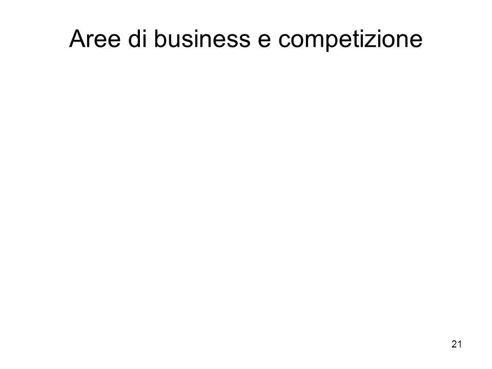 Aree di business e competizione