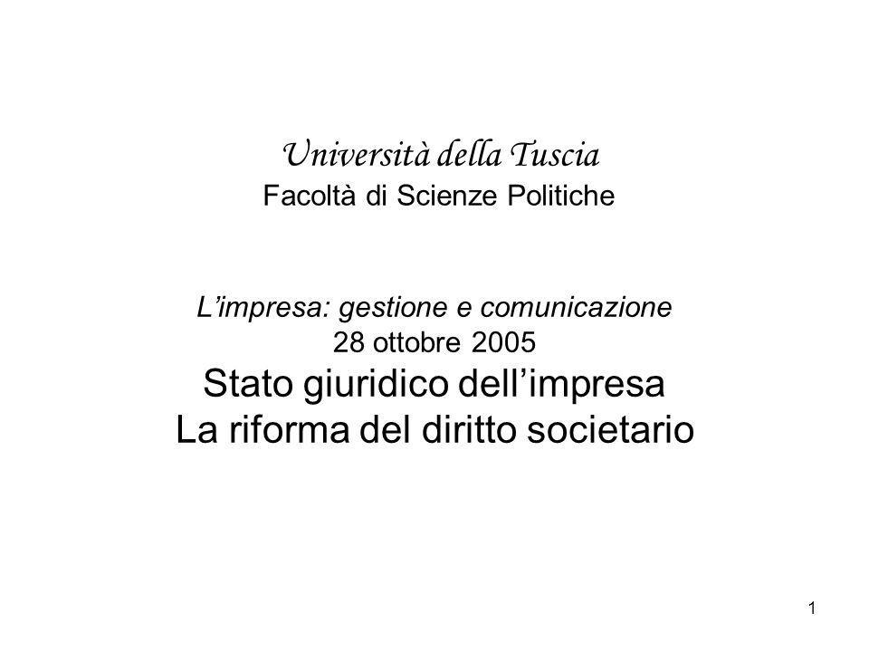 Università della Tuscia Facoltà di Scienze Politiche