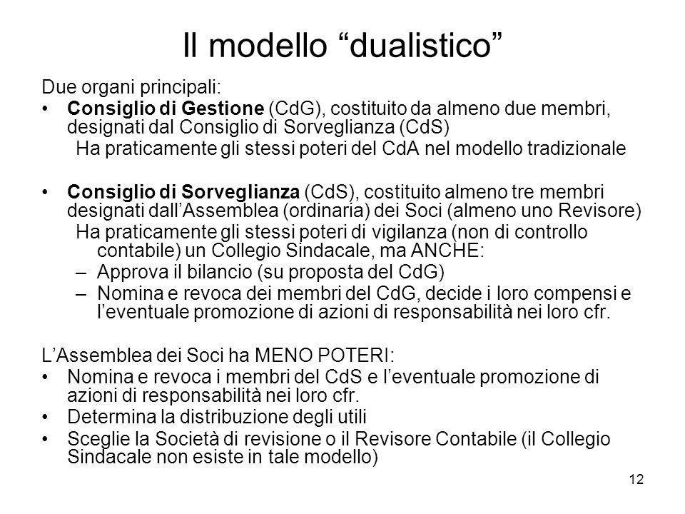 Il modello dualistico