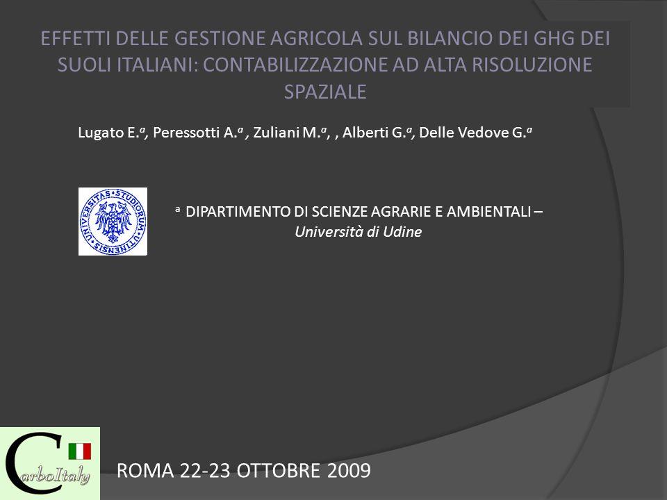 a DIPARTIMENTO DI SCIENZE AGRARIE E AMBIENTALI – Università di Udine