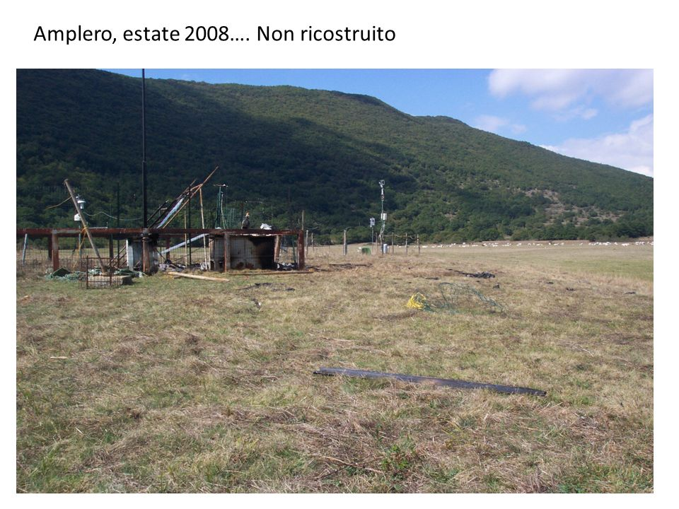 Amplero, estate 2008…. Non ricostruito