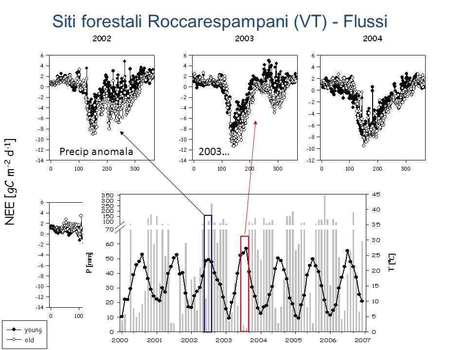 Siti forestali Roccarespampani (VT) - Flussi