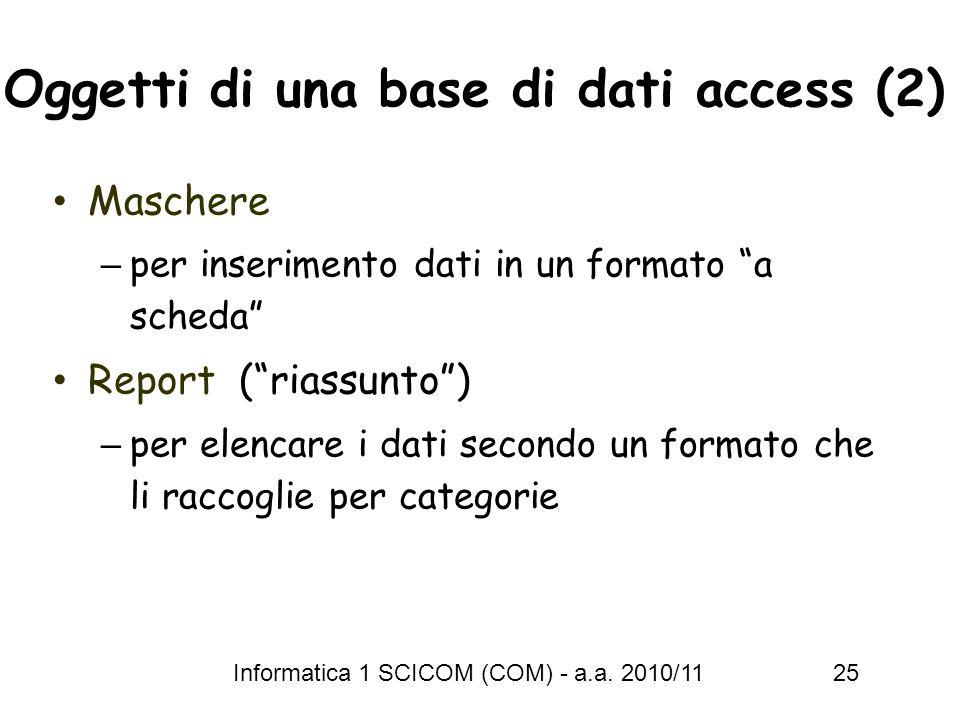 Oggetti di una base di dati access (2)