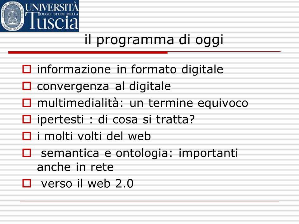 il programma di oggi informazione in formato digitale
