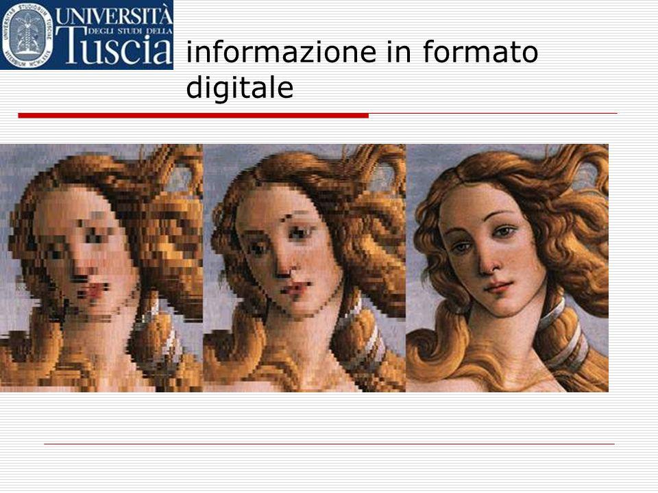 informazione in formato digitale