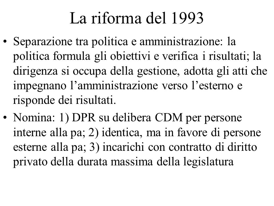 La riforma del 1993