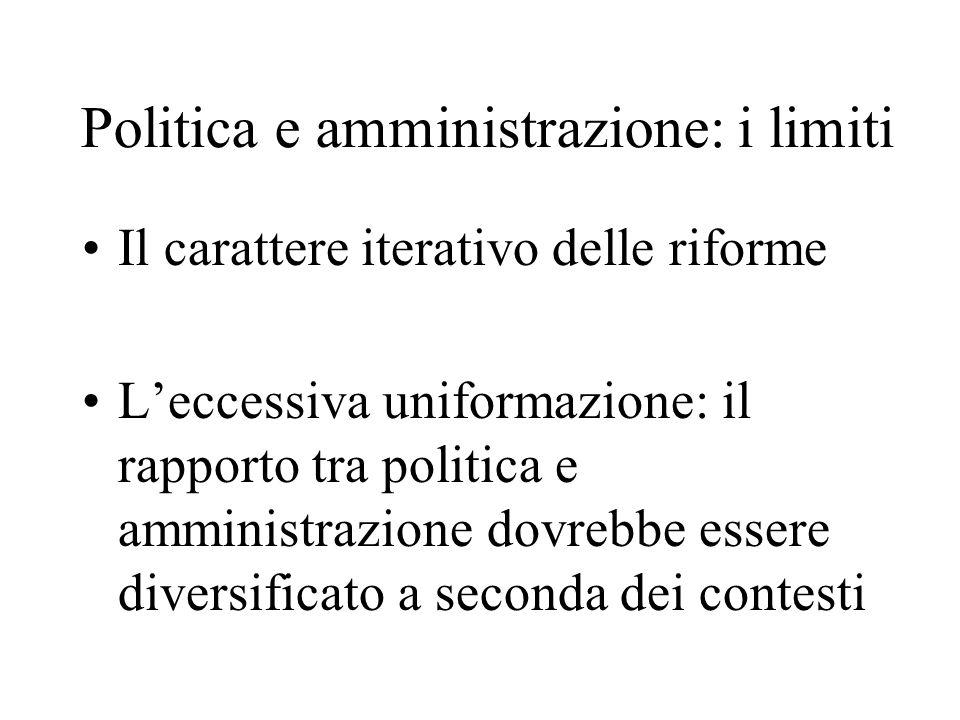 Politica e amministrazione: i limiti