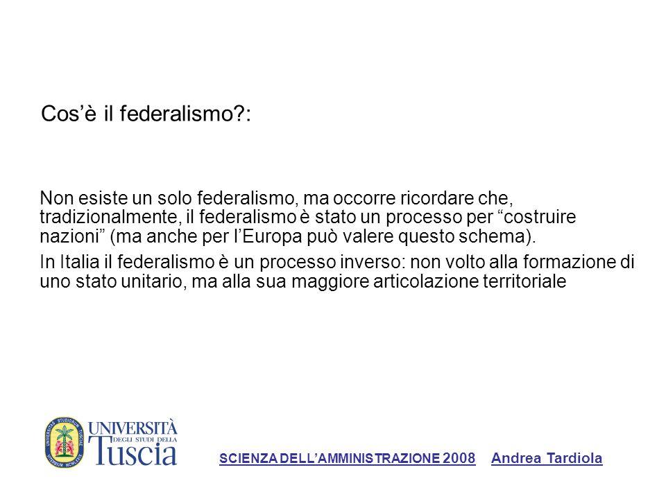Cos'è il federalismo :