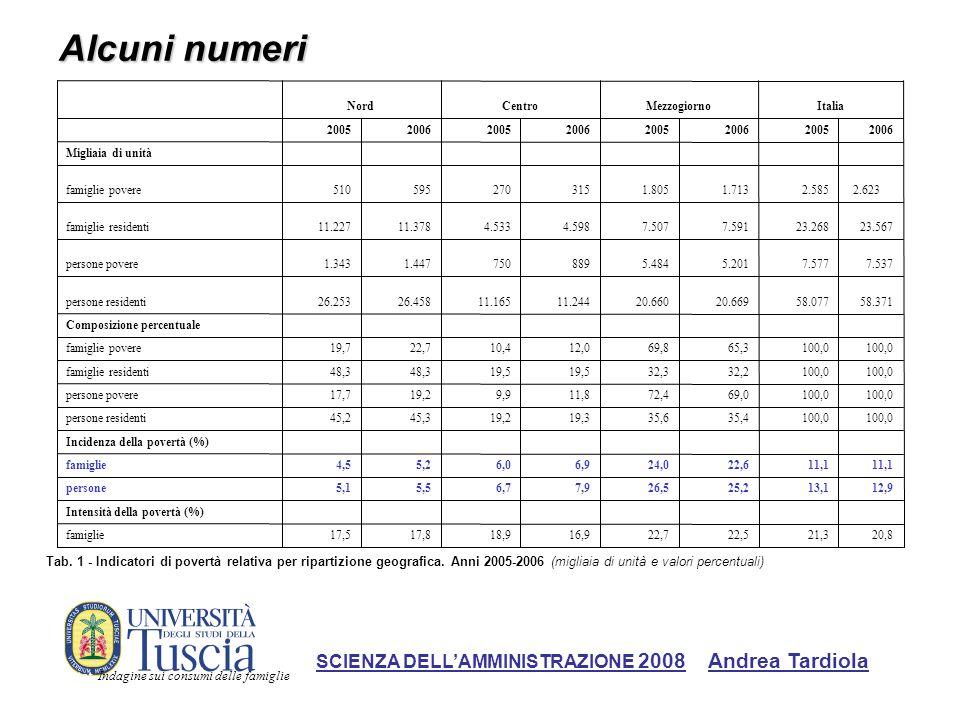 Alcuni numeri SCIENZA DELL'AMMINISTRAZIONE 2008 Andrea Tardiola 8