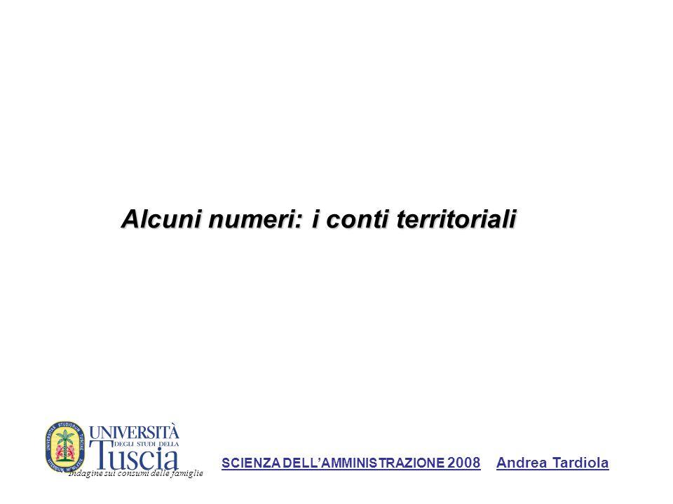 Alcuni numeri: i conti territoriali