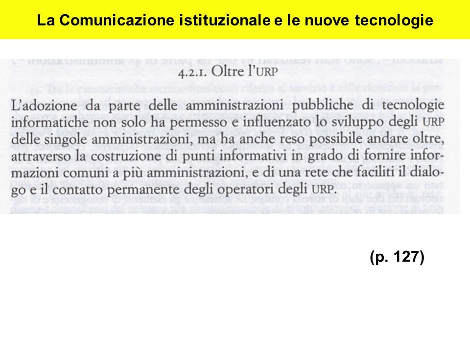 La Comunicazione istituzionale e le nuove tecnologie